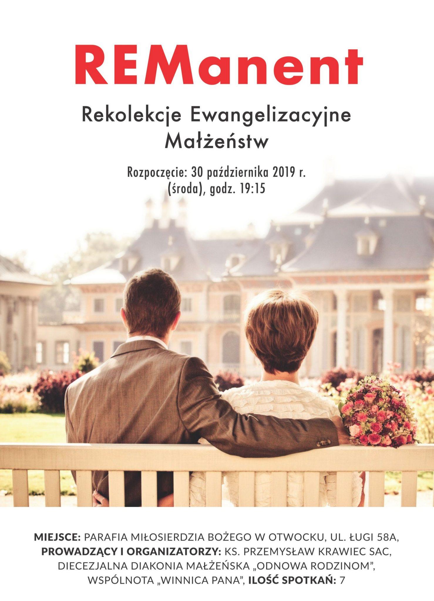 REManent – Rekolekcje Ewangelizacyjne Małżeństw